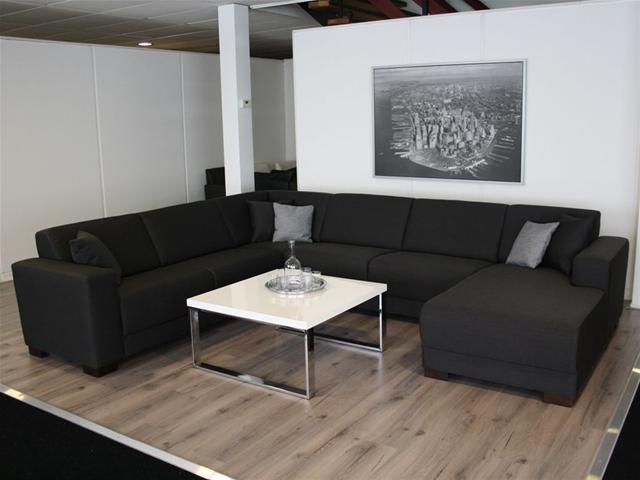 Woonkamer Zwarte Bank : XXL Leefhoek - Hoekbank in div. stoffen nu ...